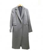 HANAE MORI(ハナエモリ)の古着「カシミア混チェスターコート」 グレー