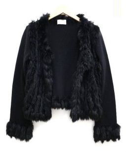 Harrods(ハロッズ)の古着「フラビットファーカーディガン」|ブラック