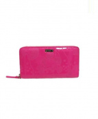 Kate Spade(ケイトスペード)の古着「ラウンドファスナー長財布」|ショッキングピンク