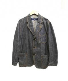 COMME des GARCONS HOMME(コムデギャルソンオム)の古着「デニムテーラードジャケット」|ブラック