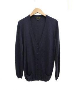 Drawer(ドロワー)の古着「カシミアシルクカーディガン」|ネイビー