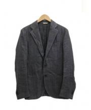 DEPETRILLO(デペトリロ)の古着「リネンミックスバスケットジャケット」|グレー
