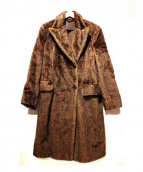 PRADA(プラダ)の古着「モヘアダブルコート」|ブラウン