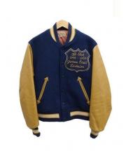 STYLE EYES(スタイルアイズ)の古着「アワードジャケット」|ブルー×ブラウン