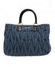 MIU MIU(ミュウミュウ)の古着「2WAYデニムバッグ」 ブルー