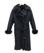 23区(ニジュウサンク)の古着「ムートンコート」|ブラック