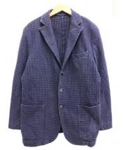 L.B.M.1911(エルビーエム1911)の古着「ハウンドトゥース3Bジャケット」|パープル