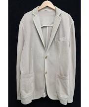 Circolo 1901(チルコロ 1901)の古着「2Bジャージージャケット」|ベージュ