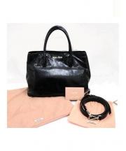 MIU MIU(ミュウミュウ)の古着「2WAYハンドバッグ」 ブラック
