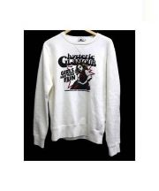Hysteric Glamour(ヒステリックグラマー)の古着「MASSIVE GIRL pt SW crew neck s」|ホワイト