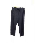 COMOLI(コモリ)の古着「ベタシャンドローストリングパンツ」|ブラック