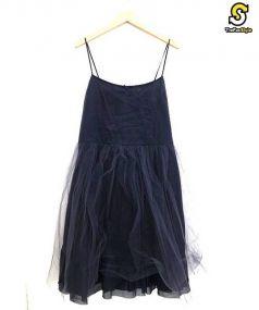 Bilitis dix-sept ans(ビリティス ディ セッタン)の古着「チュールワンピース」|ネイビー