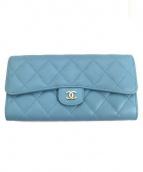 CHANEL(シャネル)の古着「2つ折り財布」|ブルー