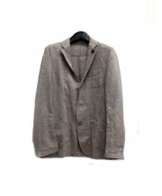 LARDINI(ラルディーニ)の古着「リネン混2Bジャケット」|ベージュ