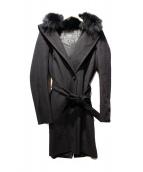 MAX MARA WEEK END LINE(マックスマーラーウィークエンド)の古着「ファーウールコート」|ブラック