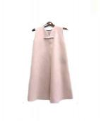 YOKO CHAN(ヨーコチャン)の古着「バックパールドレス」|ピンク