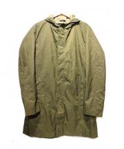 BOSS HUGO BOSS(ボス ヒューゴ ボス)の古着「ステンカラーコート」|オリーブ