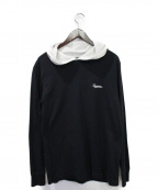 Supreme()の古着「Contrast Hooded L/S Top」|ブラック