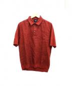 dunhill(ダンヒル)の古着「リネン切替ポロシャツ」|ブラウン