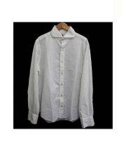 Finamor(フィナモレ)の古着「ステッチワークドレスシャツ」|ホワイト