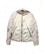 DUVETICA(デュベティカ)の古着「ナイロンジップパーカー」|ホワイト