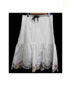 SEE BY CHLOE(シーバイクロエ)の古着「エンブロイダリースカート」|ホワイト