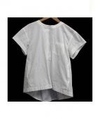 sacai(サカイ)の古着「レースアップブラウス」|ホワイト