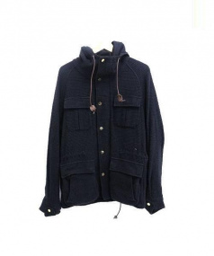 EMPORIO ARMANI(エンポリオアルマーニ)の古着「サーマル地マウンテンパーカー」|ブラック
