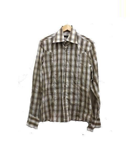 release date 82776 4c105 [中古]GUCCI(グッチ)のメンズ シャツ(ブラウス) チェックシャツ