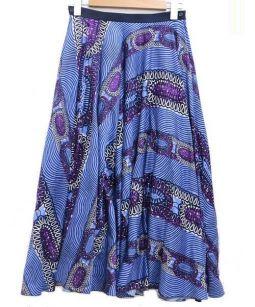 Drawer(ドロワー)の古着「総柄プリントフレアスカート」