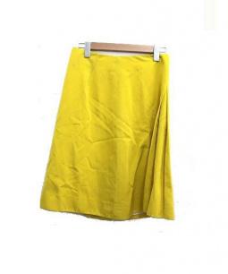 Drawer(ドロワー)の古着「コットンシルクスカート」|イエロー