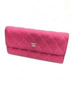 CHANEL(シャネル)の古着「2つ折り財布」 ピンク