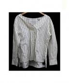 GRACE CONTINENTAL(グレースコンチネンタル)の古着「ストライプシャツブラウス」|ホワイト