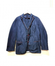 AQUARAMA(アクアラマ)の古着「ナイロンテーラードジャケット」|ネイビー