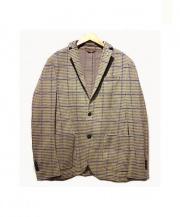 L.B.M.1911(エルビーエム1911)の古着「スウェット2Bテーラードジャケット」|パープル×ベージュ