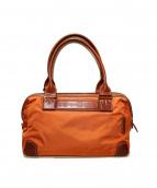 Felisi(フェリージ)の古着「ナイロンハンドバッグ」|オレンジ