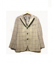 RING JACKET(リングジャケット)の古着「リネン混2Bジャケット」|グレー