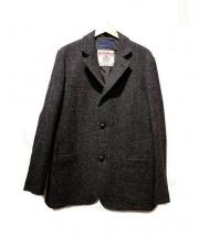 BLUE WORK×Harris Tweed(ブルーワーク×ハリスツイード)の古着「ハリスツイードテーラードジャケット」|グレー