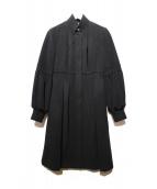 DIANE VON FURSTENBERG(ダイアンフォンファステンバーグ)の古着「アンゴラ混コート」 ブラック