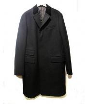 Rugby Ralph Lauren(ラグビーラルフローレン)の古着「ベロア襟ロングコート」|ブラック