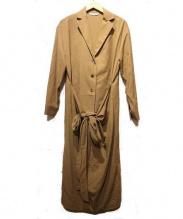 Whim Gazette(ウィムガゼット)の古着「ツイルストレッチシャツカラーワンピース」|ブラウン