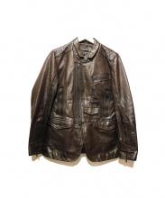 DIESEL BLACK GOLD(ディーゼル ブラック ゴールド)の古着「レザーライダースジャケット」|ブラウン