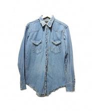 seven by seven(セブンバイセブン)の古着「リメイク加工ウエスタンシャツ」|ブルー