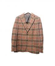 TAGLIATORE(タリアトーレ)の古着「ウールテーラードジャケット」|ブラウン×レッド