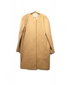 DEUXIEME CLASSE(ドゥーズィエムクラス)の古着「ノーカラーウールコート」|ブラウン