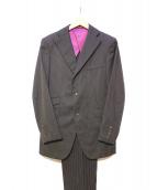 ABAHOUSE(アバハウス)の古着「ストライプ2Bスーツ」|ブラウン×ブラック