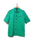 GRIFFIN(グリフィン)の古着「半袖デザインシャツ」|グリーン