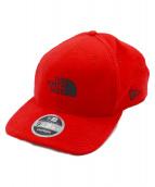 THE NORTH FACE × NEW ERA(ノースフェイス×ニューエラ)の古着「9 FIFTY STRAP BACK CAP」|レッド