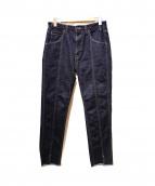 bukht(ブフト)の古着「ピンタックスリムジーンズ」|インディゴ