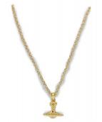 Vivienne Westwood(ヴィヴィアンウエストウッド)の古着「オーブネックレス」|ゴールド